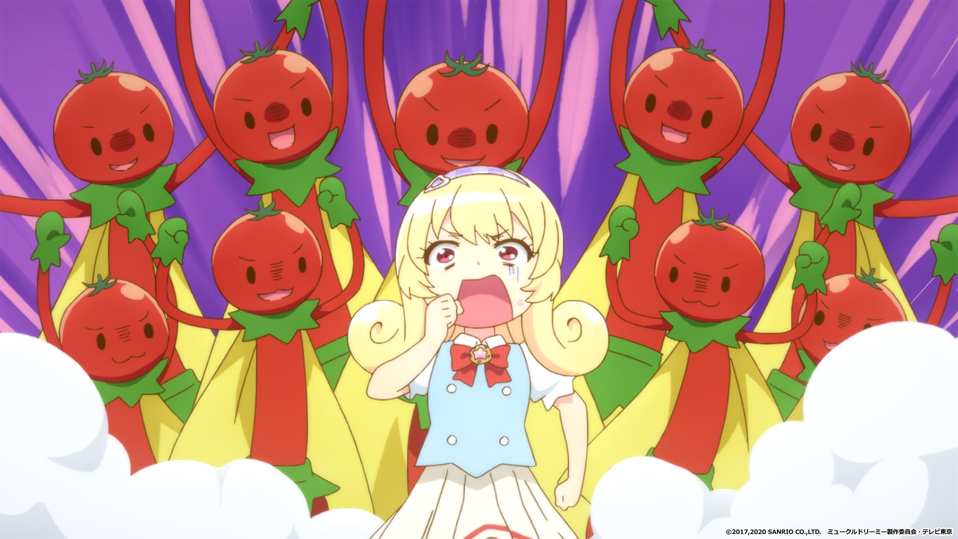 【アニメ】ミュークルドリーミーの17話あらすじ・ネタバレ感想   夢から現実に出てくるプチトマトマン
