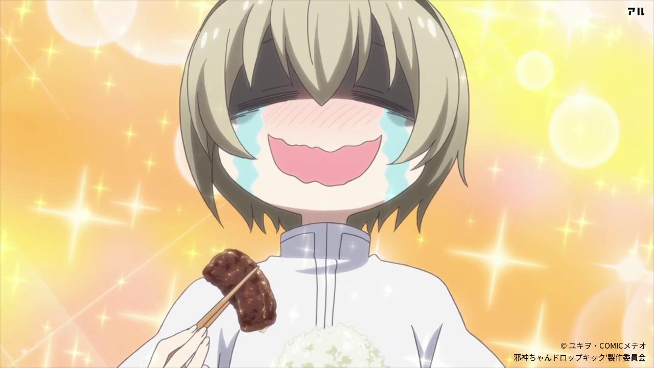 お肉を食べて幸せいっぱい