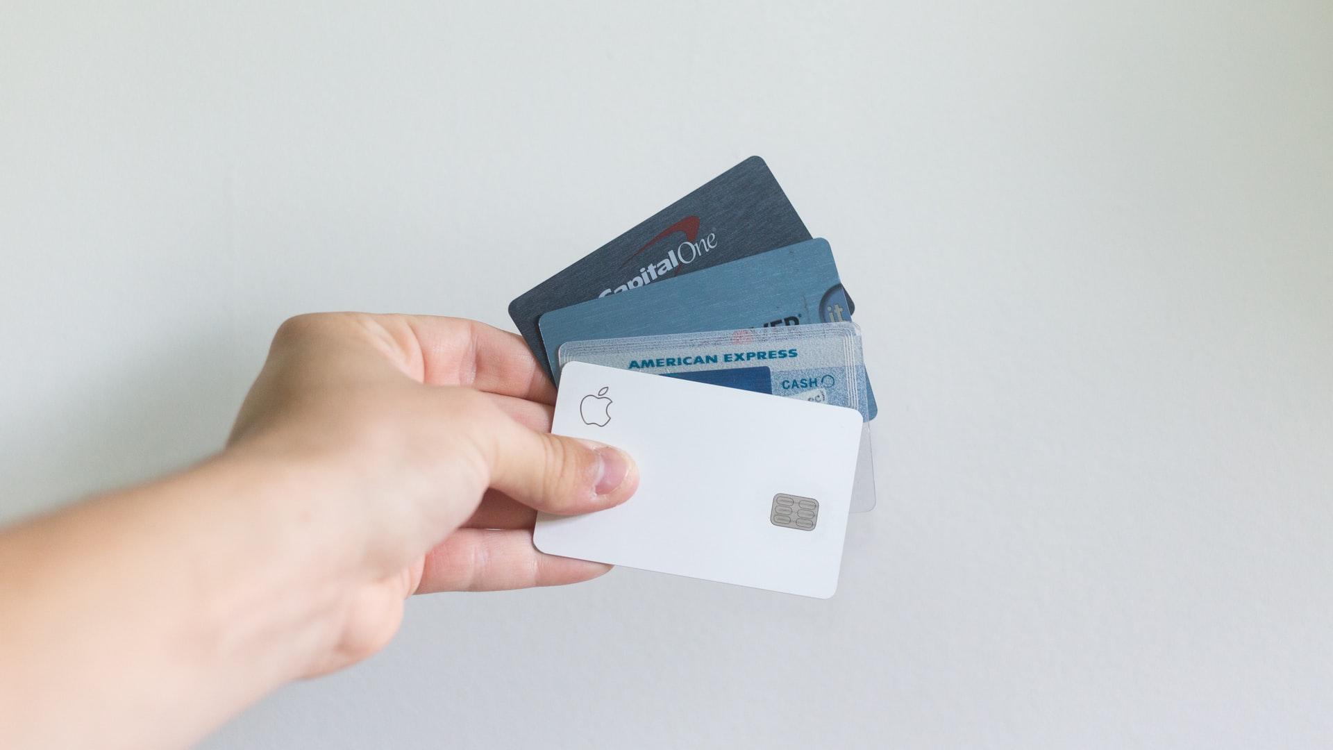 クレジットカードを4枚持っている