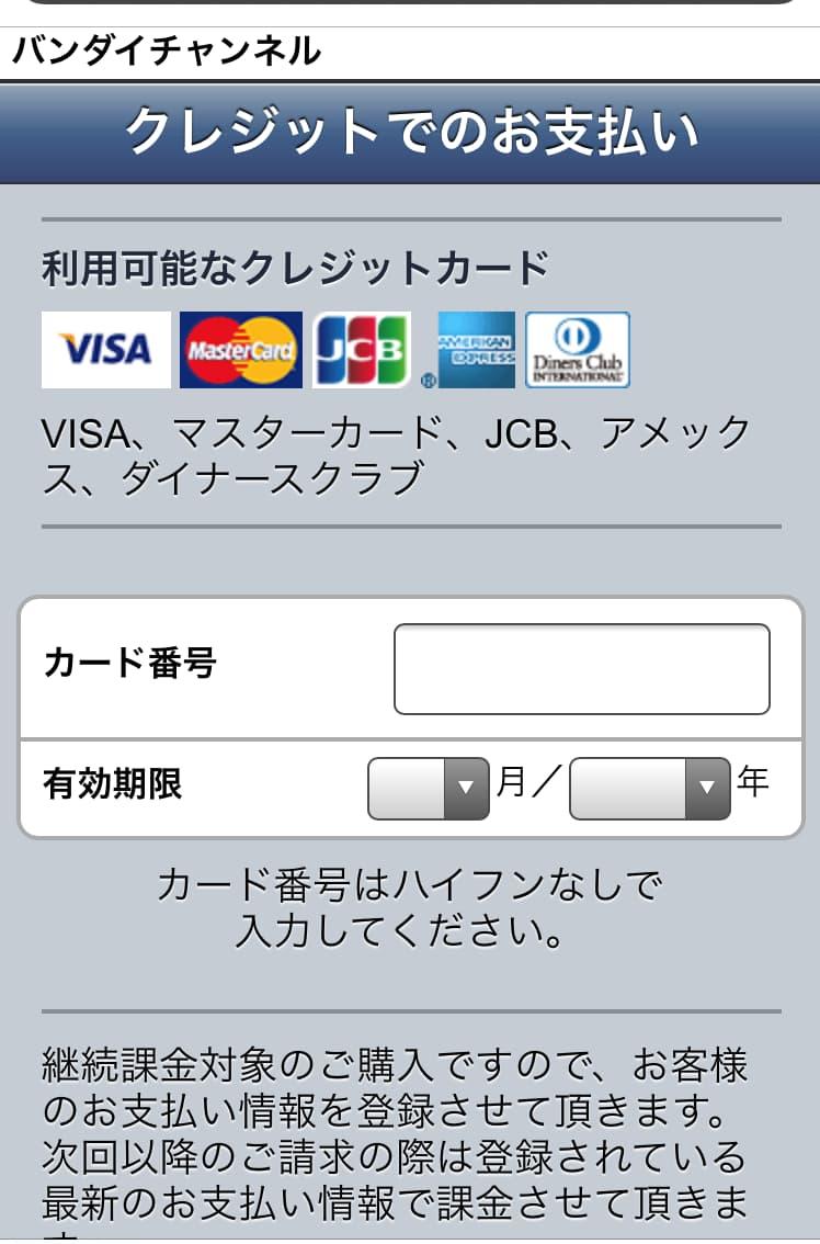 12.クレジット情報を入力し「次へ」を選択