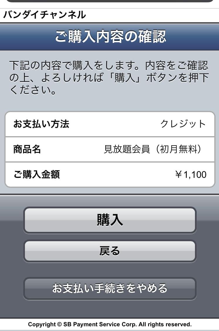 13.購入内容の確認をして「購入」を選択