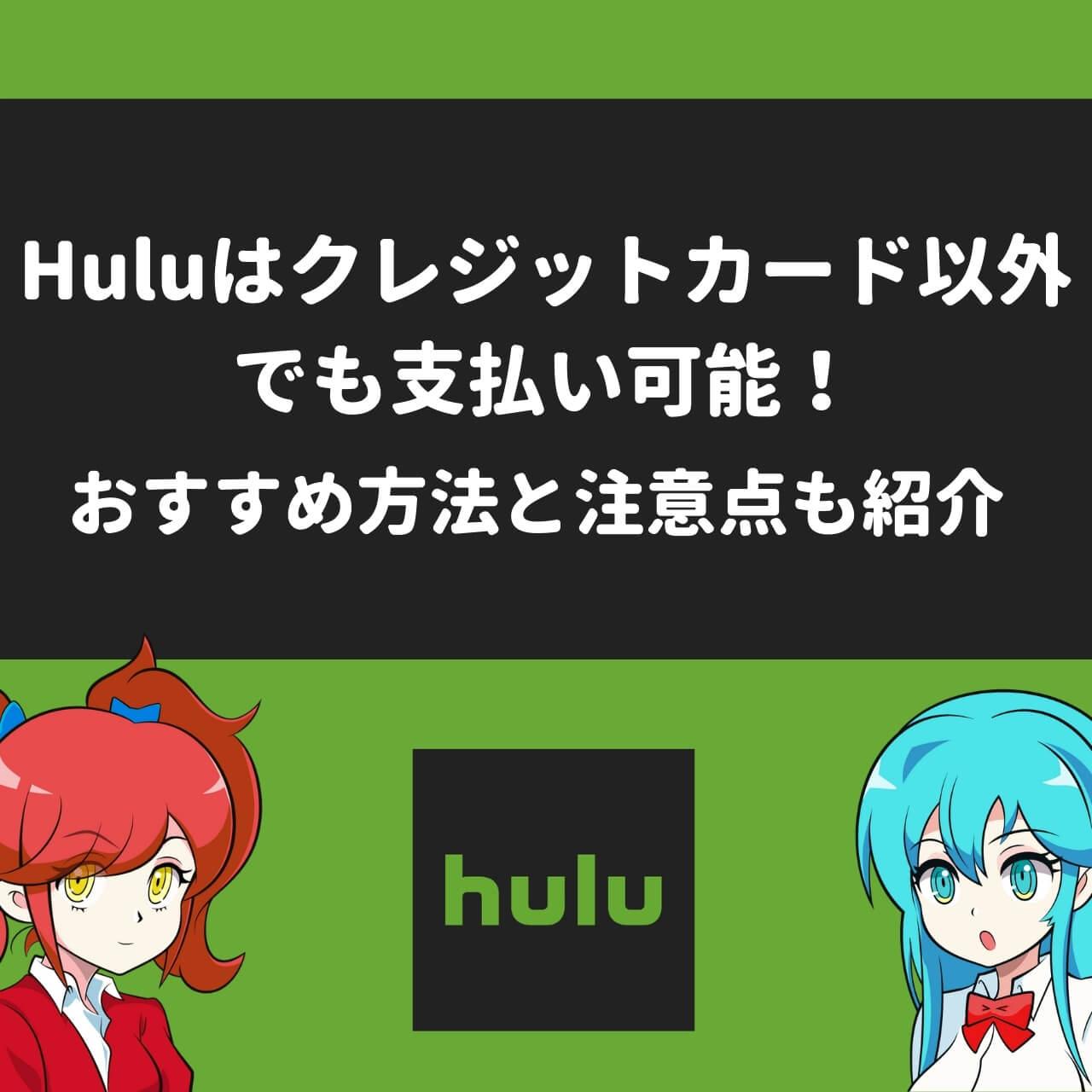 Huluはクレジットカード以外でも支払い可能!おすすめ方法と注意点も紹介