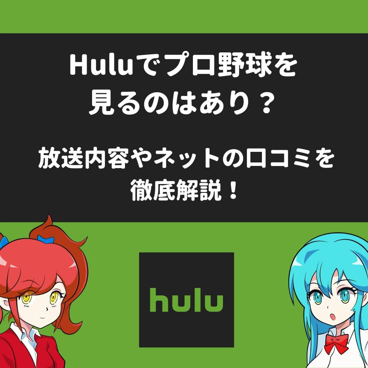 Huluでプロ野球を見るのはあり?