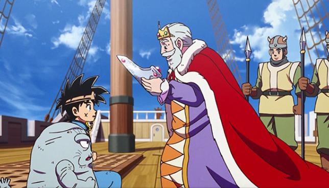 ダイに「覇者の冠」を渡す王様