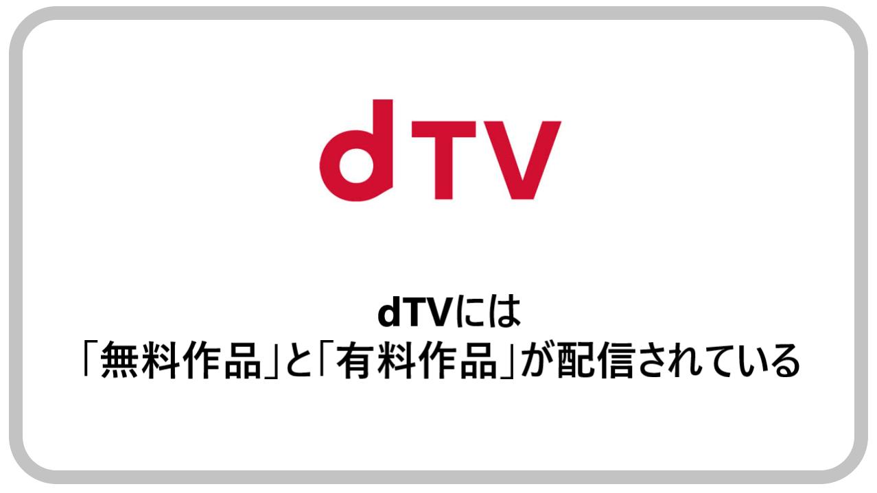 dTVには「無料作品」と「有料作品」が配信されている