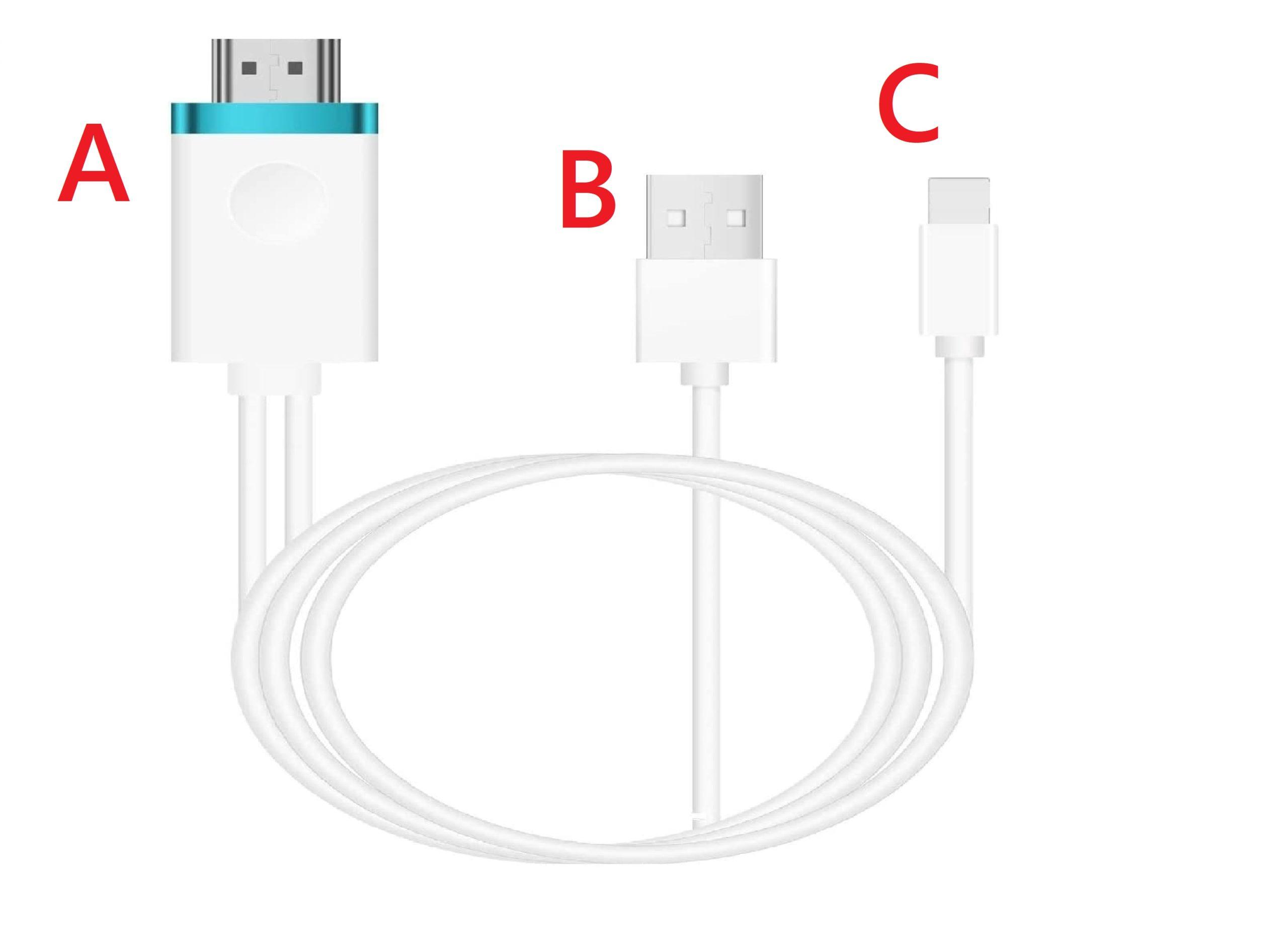HDMI変換ケーブルでFODをiPhone経由でテレビに接続する準備