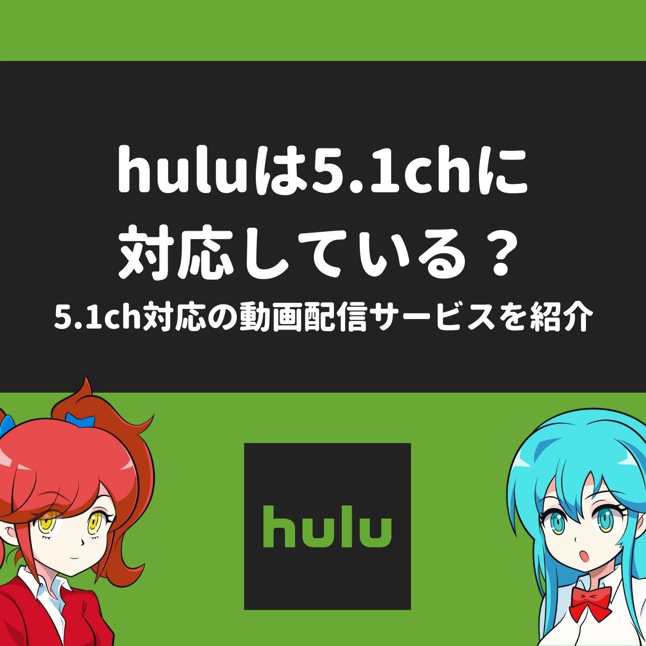 huluは5.1chに対応している?5.1ch対応の動画配信サービスを紹介
