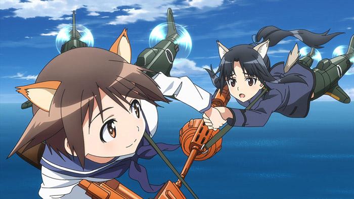 憧れの芳佳さんと一緒の空を飛べる