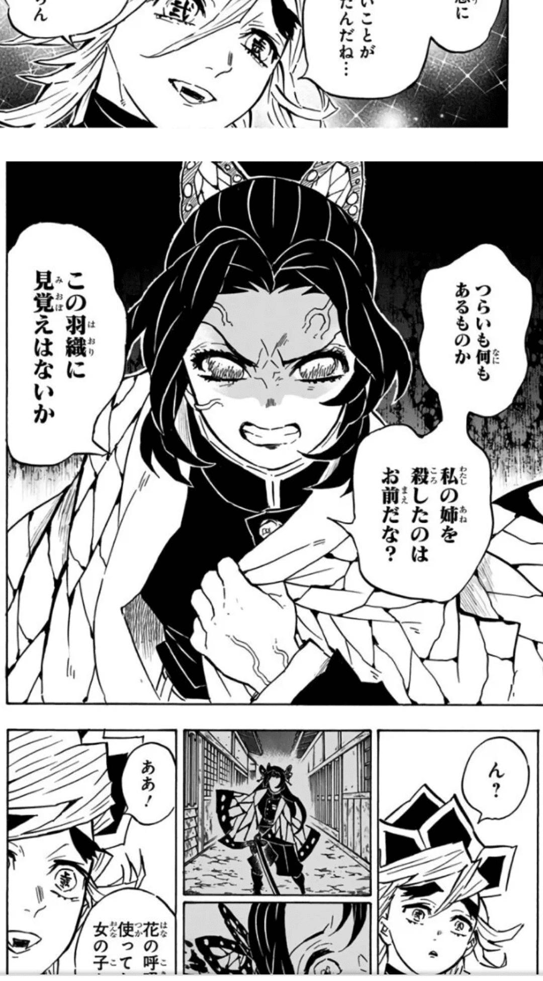 「つらいも何もあるものか。私の姉を殺したのはお前だな?この羽織に見覚えはないか」
