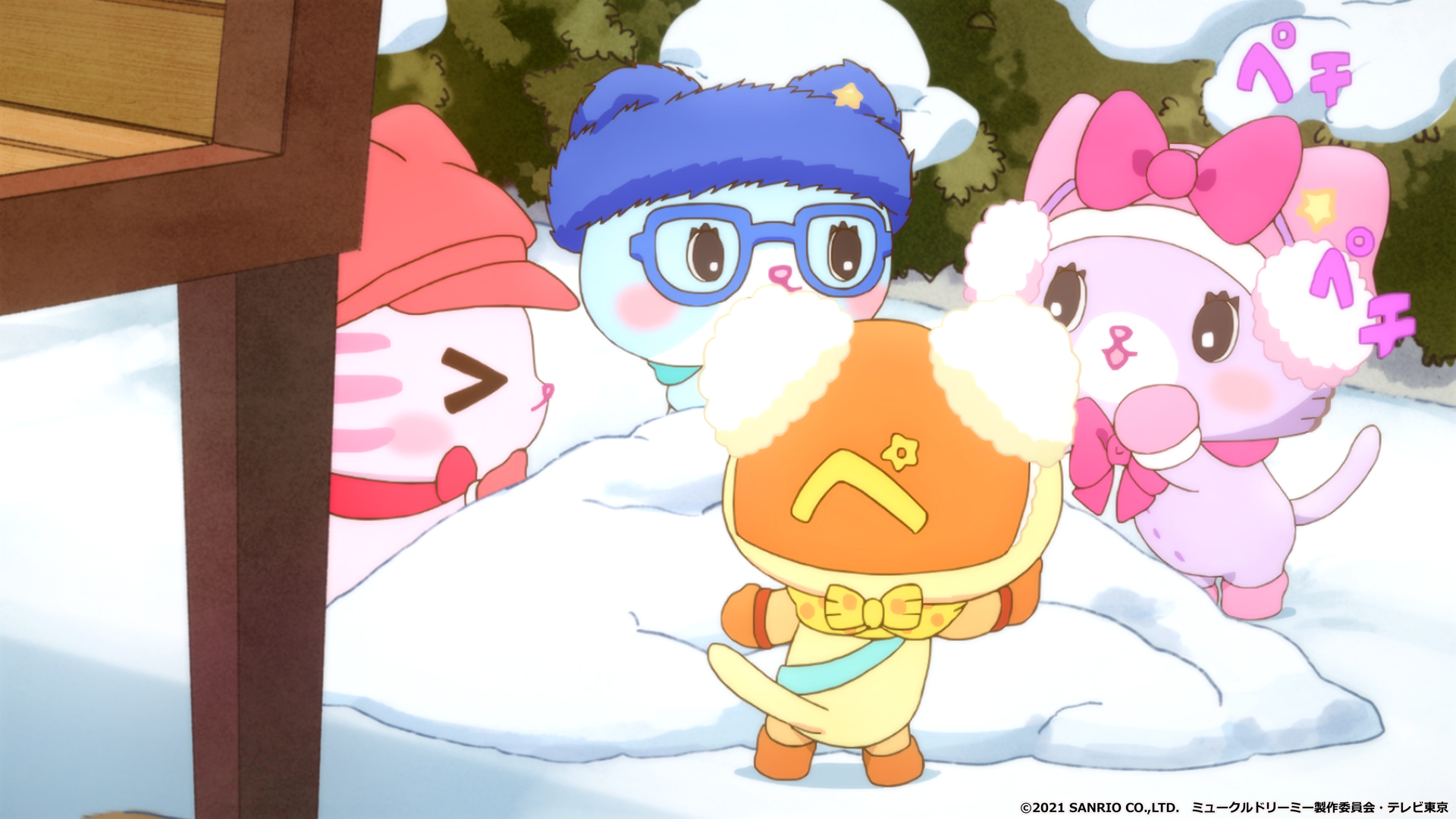はじめての雪に大はしゃぎ!