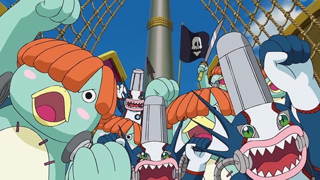 氷河に現れた海賊集団
