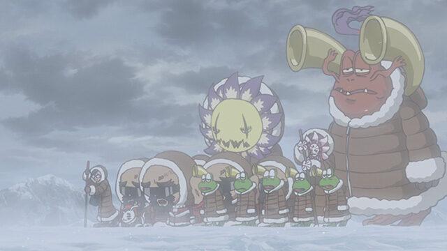 【アニメ】デジモンアドベンチャー:の60話ネタバレ感想   食料を求める海賊・オレーグモンたち!彼らの事情を知り、丈とゴマモンが立ち上がる!