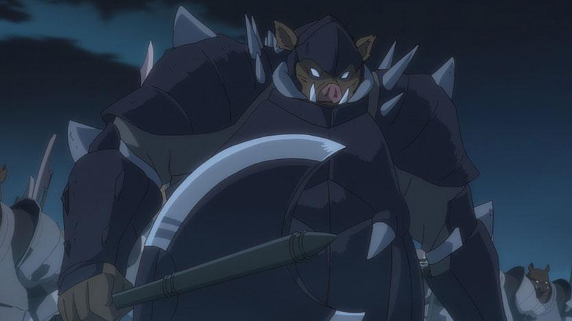 豚頭将軍(オークジェネラル)との戦い